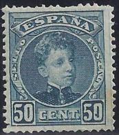 ESPAÑA 1901 - Edifil #252 - MLH * - 1889-1931 Regno: Alfonso XIII