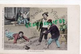 CHOCOLAT VINAY - SERIE IV  N° 9- LES MECHANTS GARNEMENTS- - CARTE PRECURSEUR- - Cartes Postales