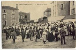 POUZAUGES  - Le Marché Au Beurre. Très Belle Carte. - Pouzauges