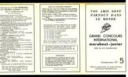 Supplément - Concours C.I.C.M. - Questionnaire N° 5 - Insert  MJ N° 104. - Marabout Junior