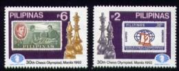 Echecs Serie Neuve Philippines 1992 Y:1890/91 Cote/value:8€ Chess Series MNH - Echecs