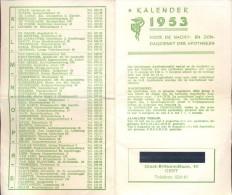 Kalender 1953 - Apotheken Gent Nachtdiensten - Non Classés