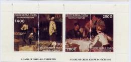 Echecs Bloc Peintures Neuf Tuva 1992 Chess Sheet MNH - Echecs
