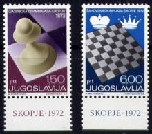 Echecs Serie Neuve Yougoslavie 1972 Y:1366/67 Cote/value:4€ Chess Series MNH Yugoslavia - Echecs