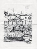 MENU - DEJEUNER DU JEUDI 15.03.79 - REPRODUCTION D´UN DESSIN DE ROLAND IROLLA -DOMAINE LAURENT-PERRIER A TOURS SUR MARNE - Menu