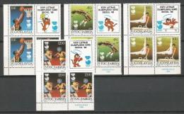 Yugoslavia 1988. Olympic Games Seoul MNH**  3 Sets + LABELS - Zomer 1988: Seoel
