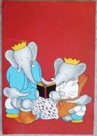 LITHO Fantaisie Illustrateur De Brunhoff Elephant Humanisé Babar En Famille Edition Du Desastre 1989 Ecrite - Éléphants
