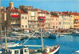 3 CPSM      Saint Tropez  Le Port De Peche , Vue Aérienne Du Port , Souvenir De St Trropez        P  1446 - Saint-Tropez
