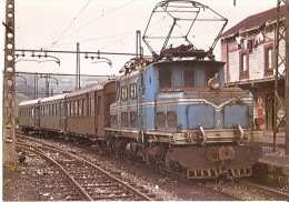 Nº 165 POSTAL DE ESPAÑA DE UNA LOCOMOTORA ELECTRICA Nº7 EN ZUMAYA- GUIPUZCOA (TREN-TRAIN-ZUG) AMICS DEL FERROCARRIL - Trenes