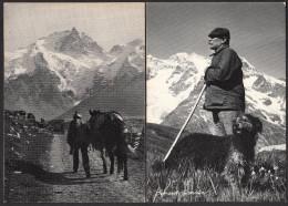 CPM - Bernard LAGRANGE, Valloire - Lot De 2 Cartes - Le Berger Et Le Retour - Métiers