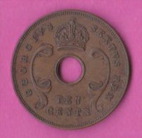 East Africa   Uganda  10 Cents 1952 King Georgius VI - Uganda
