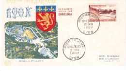 FRANCIA 1957 Premier Jour FDC Bimillénaire De Lyon   (22515) - 1950-1959