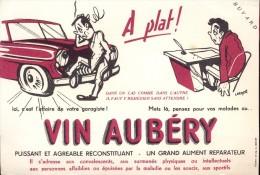Buvard Vloeipapier -  Vin Aubéry - Liqueur & Bière