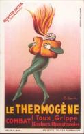 Buvard Vloeipapier -  Le Thermogène - Combat Toux - Grippe Douleurs - Illustr. Cappiello - Produits Pharmaceutiques