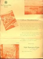 Facture Faktuur Brief Lettre  - Vejle Esperanto Klubo - Danlando 1948 - Non Classés