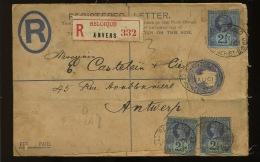 Recommandée Vers Belgique 27 Feb 1903   Affranchissement Quadricolore - Covers & Documents