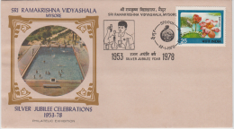 India 1978  Chemistry Experiment Cancellation  Swimming Pool  Mysore  Cover # 83089  Inde  Indien - Chemistry