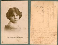 CPA « EIN DEUTSCHES MÄDCHEN » Série 12969 / 3 CORRESPONDANCE SOLDAT ALLEMAND 1917 - Guerre 1914-18