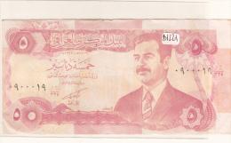 Billets -  B1221 - Iraq  - Billet  5 Dinars ( Type, Nature, Valeur, état... Voir 2 Scans) - Iraq