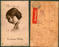 CPA « EIN DEUTSCHES MÄDCHEN » Série 12969 / 5 CORRESPONDANCE SOLDAT ALLEMAND 1917 - Guerre 1914-18
