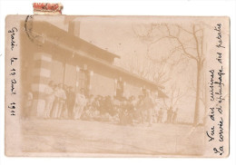 Militaria - Carte Photo - Grasse - 06 - 1911 Chasseurs Alpins Caserne - Regiments