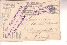 Guerra 15/18 - 24a Squadriglia Aeroplani Per Fanteria III Sezione -- Viaggiata 12 6 1918- Ill ATTILIO - Aviazione