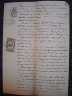 Acte Huissier Xavier PRAT 1876 Montpezat Ardeche - Manuscrits