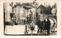 CARTE PHOTO : AIX-SUR-VIENNE FETE CARNAVAL CHAR ENFANTS ATTELAGE  87 HAUTE-VIENNE - Aixe Sur Vienne