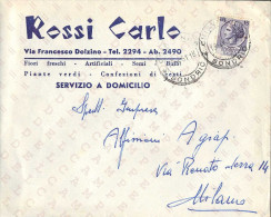 REPUBBLICA ITALIANA - BUSTA ANNULLATA: CHIAVENNA (SONDRIO) 19-04-1961 - SIRACUSANA L. 15 - SASSONE N. 767 - 1961-70: Storia Postale