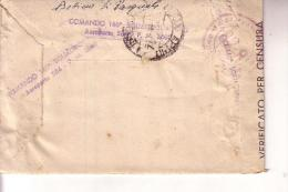 """Aviazione --Busta """""""" Comando 140a Squadriglia IDRO"""""""" Aeroporto 534 -- P M 3600 -- V. 7 12 1944 - Aviazione"""