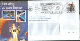 """Germania Deutschland Allemagne Germany 1991 Busta Con Annullo Speciale """"Weltraumphilatelie"""" Su Yv 1336 - [7] República Federal"""