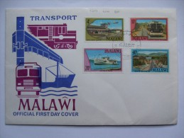 MALAWI 1977 TRANSPORT FIRST DAY COVER - Malawi (1964-...)
