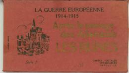 LIBRETTO 20 CARTOLINE LA GUERRE EUROPEENNE 1914-15 APRES LES PASSAGE DES ALLEMANDS RUINES - Guerra 1914-18