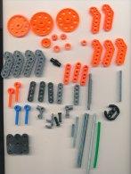 meccano junior 76 pi�ces roues  plastique et cahoutchouc, engrenages