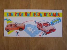 BON POUR UNE LECON DE SAMBA TALBOT Auto  Publicité  Autocollant Sticker Autres Collections - Autocollants