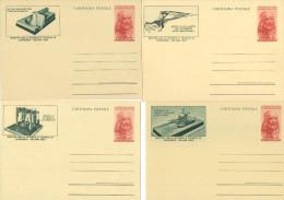 I395) ITALIA CARTOLINA POSTALE MUSEO DELLA SCIENZA 20 LIRE DEL 1953 - SERIE DI 5 NUOVE - Entiers Postaux