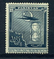 PAKISTAN   1951    4th  Anniv  Of  Independence    12a  Slate   ( Slight Crease Visible  On Back )  MNH - Pakistan