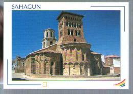 Jolie CP Espagne Sahagun Léon San Tirso - église - Cp écrite - León