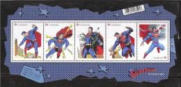 CANADA 2013, #2677, NEW, SUPERMAN 75th,  5 Single  Souvenir Sheet  MNH - Blocks & Sheetlets