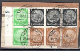 Deutsches Reich Zusammendruck Mi. H-bl.81 - Gestempelt /used  - Siehe Scan - Alemania