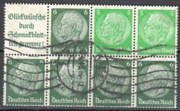 Deutsches Reich Zusammendruck Mi. H-bl. 99 - Gestempelt /used  - Siehe Scan - Alemania