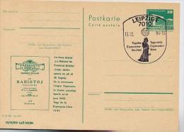 """DDR P84-61-84 C105 Postkarte Zudruck SCHILLER """"DIE RÄUBER"""" Leipzig Sost. 1984 - Esperanto"""