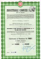 INDUSTRIALE CAMUZZI-CERTIFICATO  AL PORTATORE( N.28-) DI 10 OBLIGAZIONI-MILANO-13-10- 1965 - Industrie