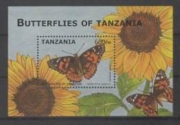 Tanzania (2009) Yv. Bf. 559  /   Butterflies - Borboletas - Butterfly - Papillons - Mariposas - Vlinders