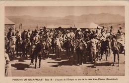 MISSION DU SUD-AFRIQUE - L'escorte De L'Èvèque Au Jour De La Visite D'une Mission (Basutoland), Gel.1951 - Ansichtskarten