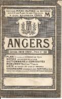 49 - ANGERS - Plan Guide Historique édition 1919/1920 Pas Très Courant - France