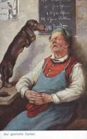 AK353 Künstlerkarte Der Gescheite Dackel, CA&Co, No. 4029 - Künstlerkarten