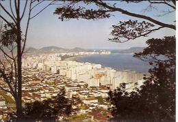 """BRASIL- FLORIANÓPOLIS: BRASIL TURÍSTICO """"SANTOS"""", VISTA PARCIAL DA CIDADE.  CIRCULADA1974. GECKO. - Florianópolis"""