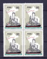 PERU - 1977 - Block Of 4 - Development Of Bayovar Oil Complex - Sc C464 - VF MNH - Perù
