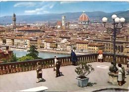 FIRENZE CARTOLINA POSTALE PANORAMA. PANORAMIC VIEW.  NON CIRCULEE. GECKO. - Firenze (Florence)